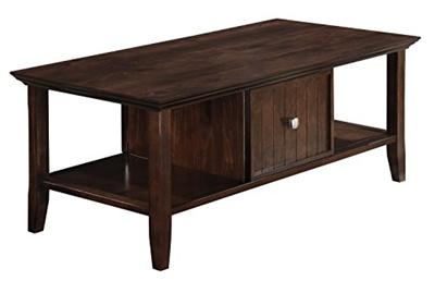 Simpli Home Acadian Coffee Table Rich Brown