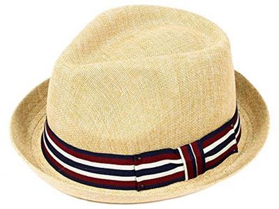 4d9b8fecd6acf Qoo10 - Simplicity Summer Sun Short Brim Straw Fedora Hat