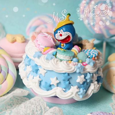Qoo10 - Simulation of Doraemon Doraemon cake creative custom music box music b... : Furniture & Deco