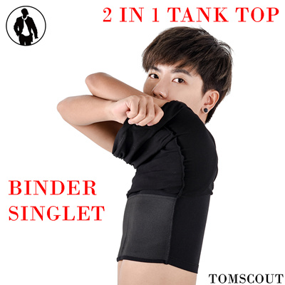 2f343b9d6ff Qoo10 - Singapore Tomboy Chest Binder✦TANK TOP Binder✦Butch FTM Lesbian  Pengki... : Underwear & Sock.
