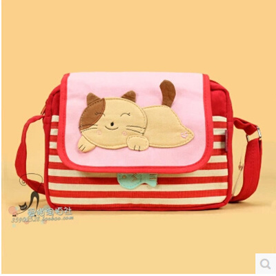 SingaporeKorean version of QQ cat among the simple splice bars Papa  Catwoman messenger bag messenger
