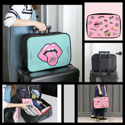 Qoo10 -  Size L  Cute Cartoon Trunk Bag   Tas Travel Koper   Tas ... 3474dabcbd