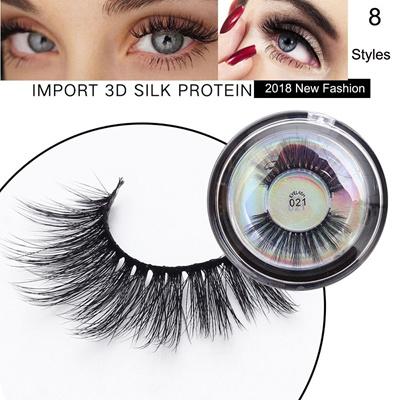 c5f0efedbaf SK 1 Pair 3D Soft Silk Fiber False Eyelashes Voluminous Long Cross Lashes  Extension Tools Handmade