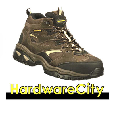 Skechers Mens Work Energy - Clan WP 76987-BRN Mid Cut Lace Safety Shoes  Trekking caea5cc42518