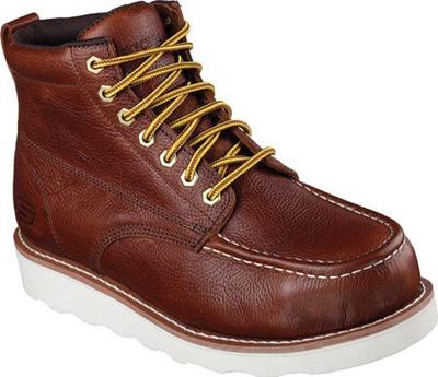 fa4b28610563 Qoo10 - Skechers Work Relaxed Fit Pettus Grafford Steel Toe Boot   Shoes