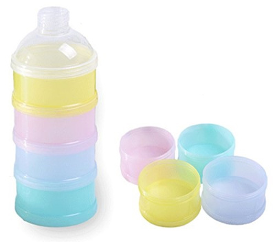 4522bc1e9f09 SKK Baby Formula Dispenser BPA Free Non-Spill Stackable Travel Snack  Container 4 Compartments