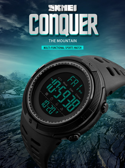 305b829490e SKMEI Brand Men Sports Watches Fashion Chronos Countdown Mens Waterproof  LED Digital Watch Man Milit