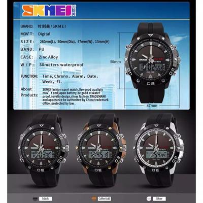 Jam Tangan SKMEI Solar Power Watch 1064 Original Water Resistant 50M 4c62d80b75