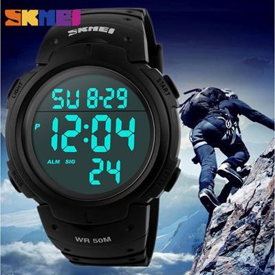 Skmei Dg1068 Original Pioneer Sport Digital Watch Jam Tangan Pria Baru Mens Led Karet Kedap Air