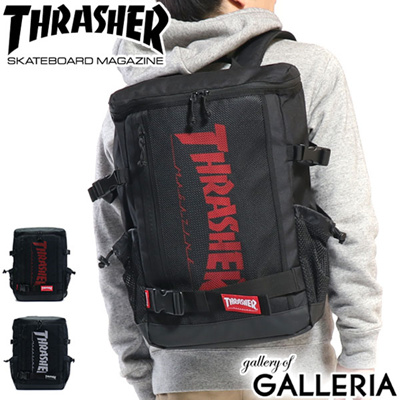 188f19679 Slasher Backpack THRASHER backpack top open backpack rucksack square B4 PC  storage school high school student