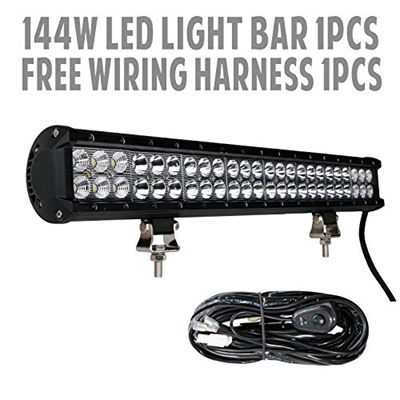 qoo10  23 inch black combo led light bar and