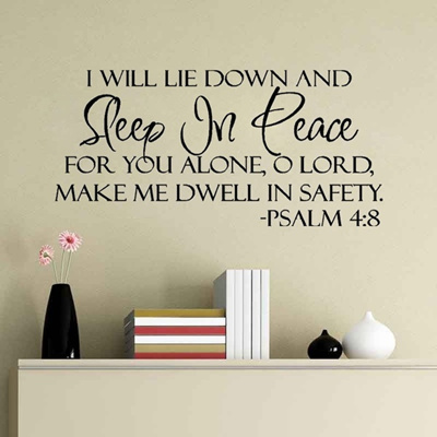 Qoo10 - Sleep In Peace Bible Verse Decor vinyl wall decal quote ...