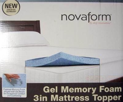 Qoo10 Sleep Innovations Novaform Gel Memory Foam 3 Inch Mattress