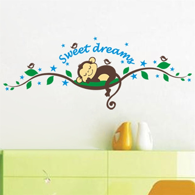 Qoo10 Sleep Monkey Removable Vinyl Wall Decal Stickers Art Mural