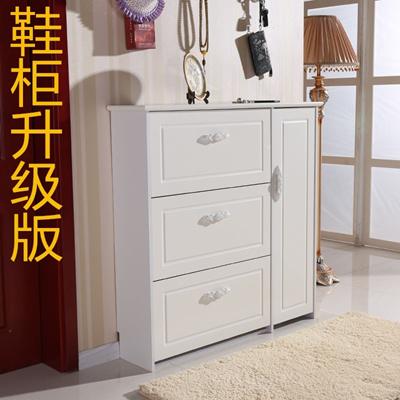 Slim Shoe Paint Dump Simple Modern IKEA Shoe Cabinet Style Ivory White  Hallway Shoe Cabinet Hall Cab