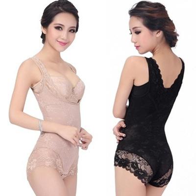 6964c14def8 Qoo10 - Slimming lace gauze seamless elastic abdomen shaper drawing  butt-lifti...   Women s Clothing