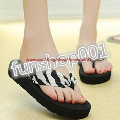 a9b8333dd Slope with heavy-bottomed non-slip women sandals flip-flops cute sandals  female
