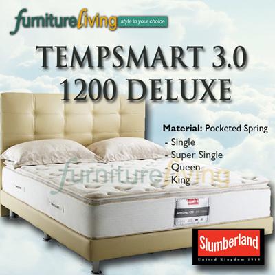 SLUMBERLAND TEMPSMART 30 1200 Deluxe Pocketed Spring Mattress