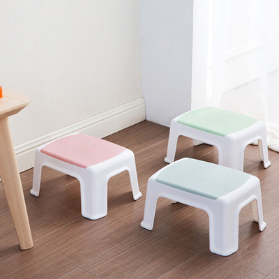 Small stool / thick plastic stool coffee table stool stool living room  adult shoe bench
