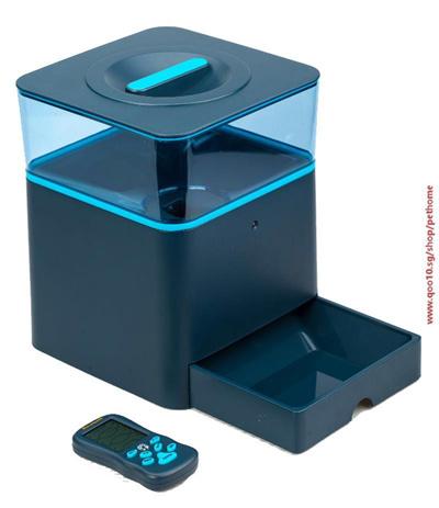 qoo10 smart bluetooth remote dog food dispenser with timer