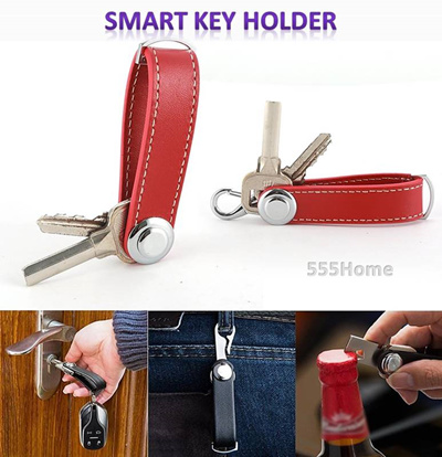 Smart Key Holder / Men Gifts / Keychain /Gift Box / Minimalist  Style/Leather Material/ Door Gift