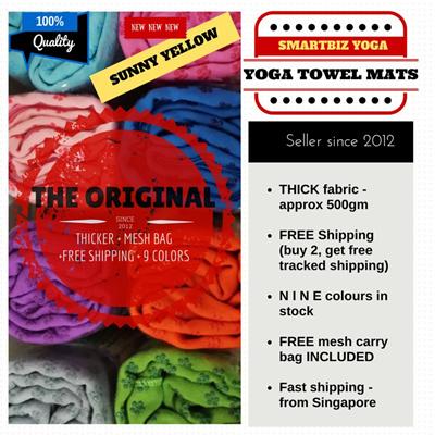 Qoo10 Smartbiz Yoga Towel Mat Nine Clrs Avlbl Thickest