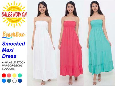 65be1be2bd1 Qoo10 - Smocked Maxi Dress   Women s Clothing