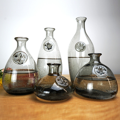 Qoo10 Smoked Bubble Vase Of Water Cultivated Creative Bottle Glass