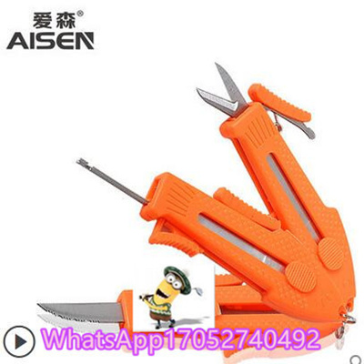 SNF new fishing scissors stainless steel triple folding scissors cut  fishing line fishing knife cont