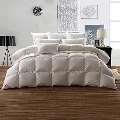 qoo10 snowman snowman white goose down comforter cal king size 100 cotton s bedding. Black Bedroom Furniture Sets. Home Design Ideas