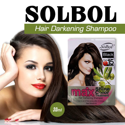 Qoo10 - Solbol Hair Darkening Shampoo/Hair Dye Color Shampoo/covers ...