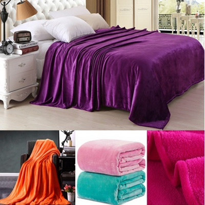 Qoo40 Solid Color Soft Throw Blanket Warm Coral Plaid Blankets Interesting Coral Colored Throw Blanket