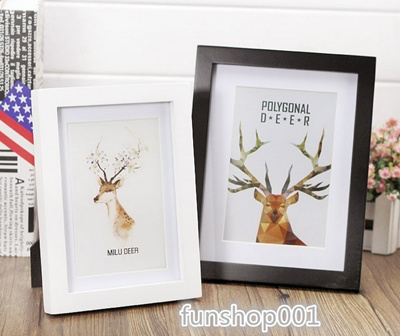 Solid Wood Frame Photo Frame Creative Frame Puzzle Deer black and white  photo frame modern minimalis