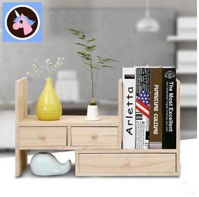 Qoo10 Solid Wood Storage Box Office Desktop Desk Drawers Shelves
