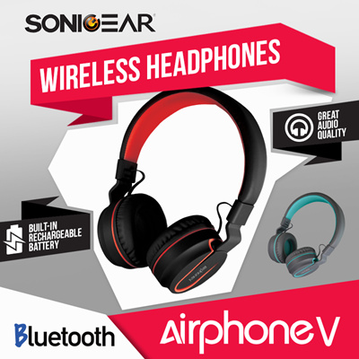 bea7d48728421a [FREE SHIPPING] Airphone V Bluetooth Stereo Headset with High Clarity! and  Strong Bass