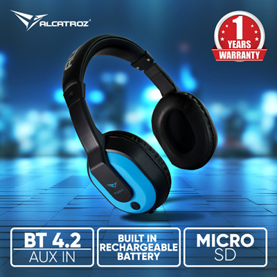Sonic GearSEPT PROMO 46% Off - Alcatroz BT4 2 Headphone  Auxillary-In |  Micro SD Card | Support HSPHFPA2DPA