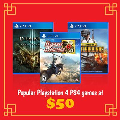 SONYPopular PlayStation 4 PS4 games at $50