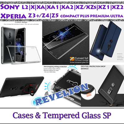 [SG]☆FULL Tempered Glass/Case☆Sony Xperia L2 X XA XA1