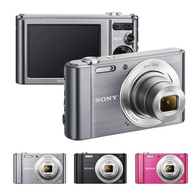 Sony Cyber-shot DSC-W810 20.1MP Digital Camera + 16GB Memory + Card