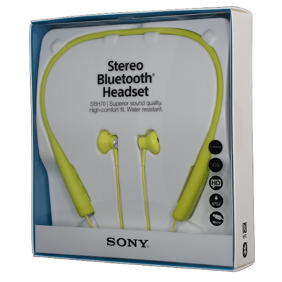 c283fada6e1 Sony SBH70 NFC Multipoint Stereo Bluetooth Headset Water-Resistant Earphone  Lime
