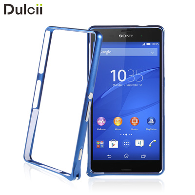 competitive price 888aa 802bb Sony Xperia Z3 Mini Case Backless Metal Bumper Case Sony Xperia Z3 Compact  D5803 M55w with