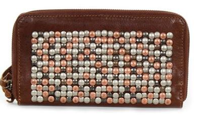 d9ef1ab1373 [SOSHOP] COWBOYSBAG Bradford - XL Geldbörse Clutch mit Nieten (20x11x2,5 cm