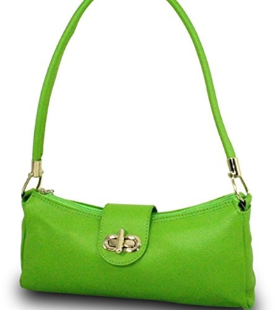 20f27dbe529e1  SOSHOP  Made in Italy Damen Tasche Handtasche Schultertasche Clutch Echt Leder  Grün  Direct