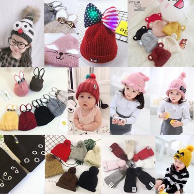 0349e3840ab South Korea 2-10 years Knit Cap Kids Move Knit Cap Hat Children Hat Baby