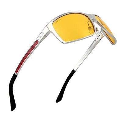 5e60a3d476 SOXICK Anti-Glare Polarized Yellow Lens Day Night Driving Glasses for Men  Women