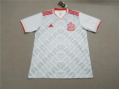 d9ab8dcbe Spain away gray 2018 World Cup Jerseys Thai National man Soccer jersey