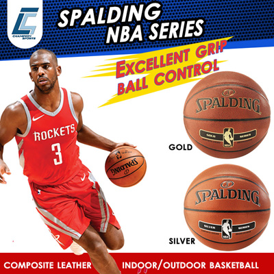 Spalding NBA Silver Indoor Outdoor Basketball Size 7 40689a29d