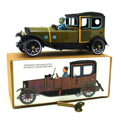 Spanish Vintage Cars Toy Model Retro Toys Photography Props Tin Toys For Kids