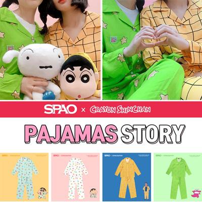 Qoo10 -  SPAO x CRAYON SHINCHAN  Couple S S Pajama (Cr) MINT PINK ... 6ce63f5467ef7