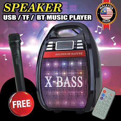 Speaker RX-810BT Rechargeable Bluetooth USB TF FM Radio Remote Control